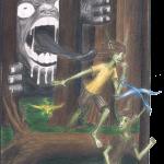 illustration from Goblin Boys , copyright © 2013 Colin VanNeste Talmage