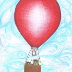 Goblin Boys in a Ballon. Copyright ©2013 Colin Van Neste Talmage. An illustration from Goblin Boys, a short story by Colin Talmage