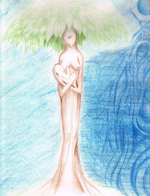 Tree Mother II (~2011) . Copyright ©2011 Colin Van Nest Talmage.